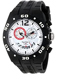 Viceroy Real Madrid 432853–15de la mujer deportes plástico negro goma FECHA reloj