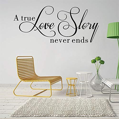 Syssyj Eine Wahre Liebe Geschichte Nie Endet Zitate Wandaufkleber Room Decor House Inspirierende Schlafzimmer Wallpaper