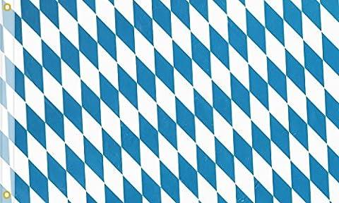 Sonia Originelli Fahne Flagge Großherzogtum Bayern Bavaria 90 x 150cm blau weiss FLAG3-Bayern