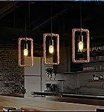 #10: Glitz Vintage Geometric Edison lamp Rope hanging/pendant , E27 Holder, Decorative, Urban Retro style, Baze color. (rectangle)