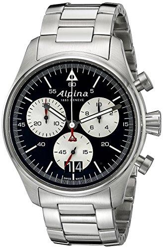 Alpina Startimer Pilot Herren-Armbanduhr 44mm Schweizer Quarz AL-372BS4S6B