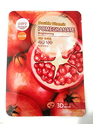 East Skin Natural Pomegranate Double Vitamin Face Mask - 10 masks from East Skin