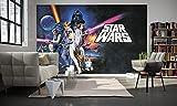 Komar - Star Wars - Vlies Fototapete POSTER CLASSIC - 400 x 250 cm - Tapete, Wand Dekoration, Retro, Galaxy - 026-DVD4