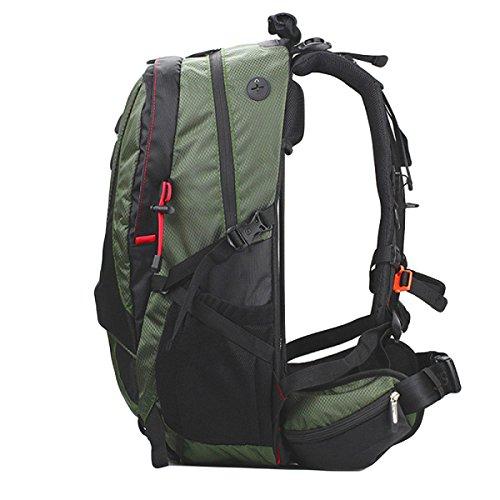 Outdoor-Sport-Bergsteigen Tasche Kommt Mit Regen Abdeckung,Grey Green