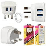 LDNIO Power Portable Travel USB Chargers Wall Charger Outlet Tap 2 USB Port For Android Smart Phones, iPhones, iPad, Mp3,Tablet (UK PLUG)