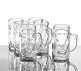Stölzle Oberglas ISAR Maßkrug 0,5 l- Original Biermaßkrug Oktoberfest, Bierglas, Tradition, Augenkrug, 6 Stück, spülmaschinenfest, hochwertige Qualität - 4