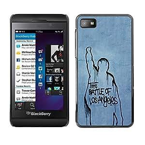 schwer Beschützer Prämie Slim Dünn Schutz Hülle Tasche Slim Case Armor PC Aluminium Rugge Für Blackberry Z10 /Battle Of Los Angeles/ STRONG