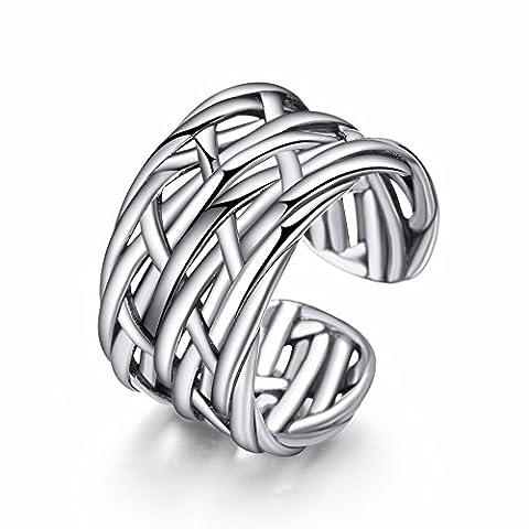 TARDOO Marke Unendlich Knoten Ringe Sterling Silber 925 Eternity Band Einfache Offen Einstellbar Von Frauen Und Männern Partner Schmuck