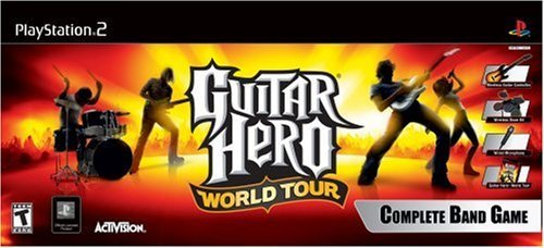 PS2 Guitar Hero World Tour - Band Kit by Activision
