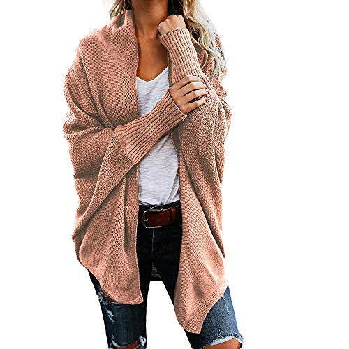 iHENGH Damen Herbst Winter Cardigan Top,Women Lange ÄRmel Solid Color Casual Mantel Pullover Coat Strickjacke Tops (Lange Pullover Tank Kleid Der)