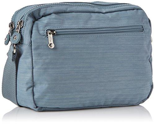 Kipling Damen Silen Umhängetasche, 24x18x11 cm Blau (Dazz Soft aloe)