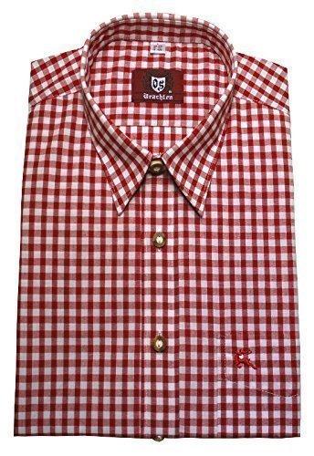 Kentkragenhemd weiß-rot XL