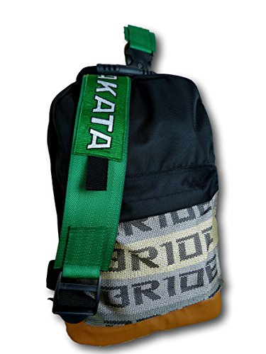 Mochila JDM Bride Backpack with Racing Straps JDM Racing Drift Backpack with Ultra-strong Racing 4 Point Harness Straps (03MTG)