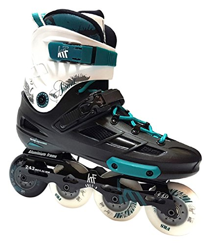 KRF The New Urban Concept Angel Inline Skates Für Freeskates, Schwarz, 44