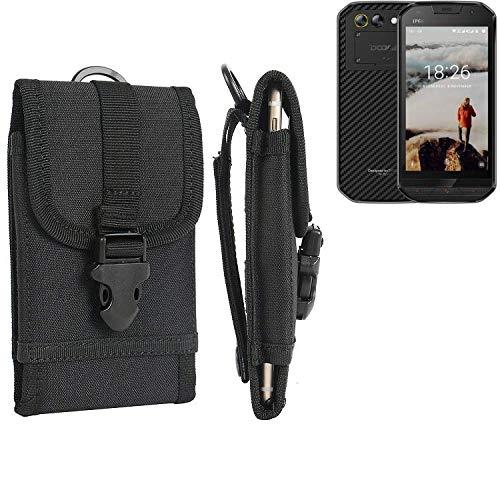 K-S-Trade Handyhülle für Doogee S30 Gürteltasche Handytasche Gürtel Tasche Schutzhülle Robuste Handy Schutz Hülle Tasche Outdoor schwarz