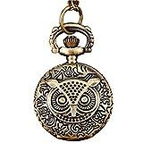 Taschenuhren Jahrgang Antike Uhren SOMESUN Bronze Ton Spinnennetz Design Kette Anhänger Herren Taschenuhren (#4)