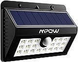 Mpow 20 LED Solar Lights Motion Sensor Security Light, 3-in-1 Wireless Weatherproof Security Solar Light Motion Sensor Lamp (3 Intelligent Modes, Black)