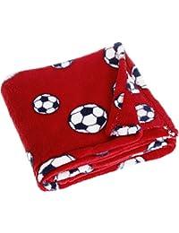Playshoes Unisex Baby Bekleidungsset Fleecedecke, Babydecke, Kuscheldecke Fußball, Oeko - Tex Standard 100