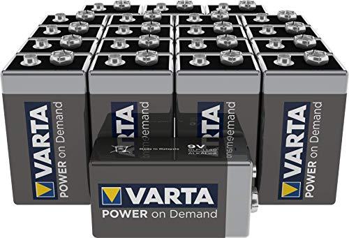 VARTA Power on Demand 9V Block (20er Pack Vorratspack - smart, flexibel und leistungsstark für den mobilen Endkonsumenten - z.B. für Smart Home Geräten, Rauchmelder, Brandmelder)