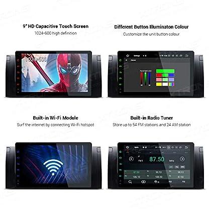 XTRONS-9-Android-90-4GB-RAM-64GB-ROM-Autoradio-mit-Touch-Screen-Octa-Core-Multimedia-Player-untersttzt-4G-WiFi-Bluetooth-DAB-OBD2-TPMS-Musik-Streaming-Plug-und-Play-FR-BMW-X5-E53