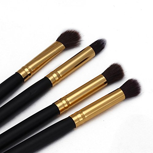 Pinceaux Maquillage, Makeup Brushes Set, Kolylong® 4pcs Maquillage Cosmetic Outil Fard à PaupièRes Poudre Fondation Blending Brush Set