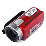 LCLrute Kamera LCD 3 Zoll TFT LCD HD 1080P 24MP 18X Digital-Zoom Camcorder Video DV-Kamera (Rot)