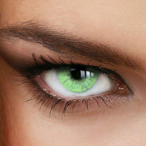 Farbige Jahres-Kontaktlinsen Naturally SWEET GREEN - OHNE Stärke in GRÜN - von LUXDELUX® - (+/- 0.00 DPT)