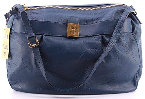 Sacs Bandouliere Femmes ALVIERO MARTINI 1 Classe Calf Leather Shoulder Bag Blue