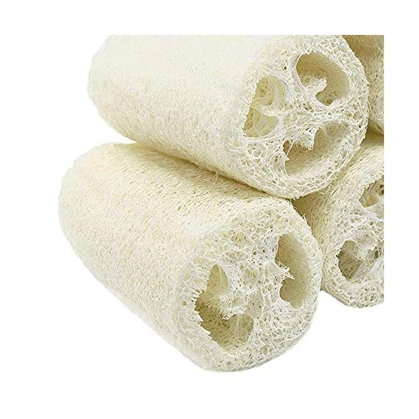 TOOGOO Naturaleza Paquete De 6 Orgánico Loofahs Loofah SPA Depurador De Exfoliante Luffa Natural Esponja De Lavado De Cuerpo Eliminar Piel Muerta Jabón Hecho