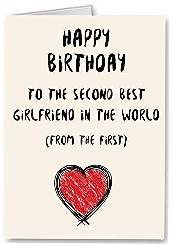 Second Best Freundin in the World–Funny Premium Qualität Geburtstag Karte