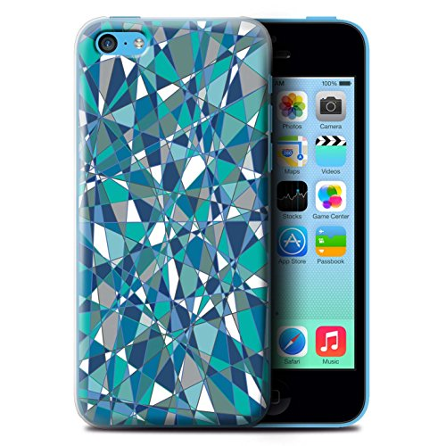 Stuff4 Hülle / Case für Apple iPhone 5C / Seil/Holz/Deck Muster / Teal Mode Kollektion Zusammenfassung Glas