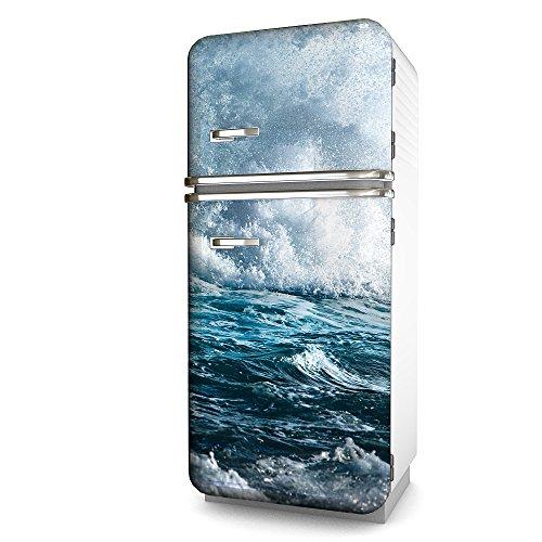 Kühlschrank-Folie Welle selbstklebend mehrere größen | Sticker-folie | Klebefolie | Kühlschrank-Aufkleber | Front-folie | Dekoration | Küche | Deko-folie | Möbel-folie | Vinyl-folie
