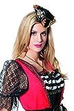 Jannes 9476 Damen-Mini-Hut Luxus-Dreipsitz Pirat Piratenhut Erwachsene Einheitsgröße Schwarz