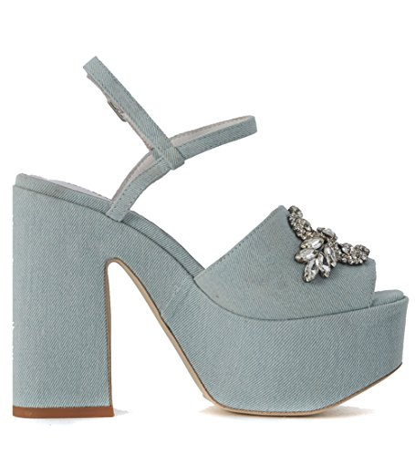 Jeffrey Campbell Sandalen Nikko in Denim Hellblau Blue