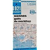 Carte de randonnée : Vannes, golfe du morbihan - IGN 0921 ouest