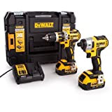 DEWALT DCK259M2T Tstak Perceuse visseuse à percussion + visseuse à chocs + 2 batteries 18V 4Ah Li-ion + coffret