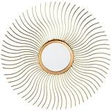 dcasa - Espejo de pared industrial dorado de metal para dormitorio de 36 cm Vitta