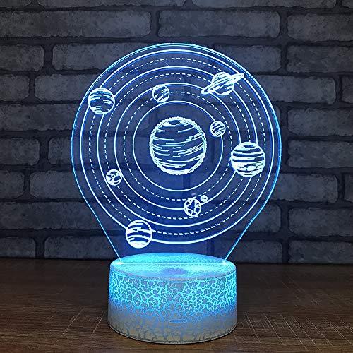Billige Tischlampenachtlichter Planetenfarben Blei 3D-Lichter Usb-Schnittstelle Kosmische Nachtlichter Weihnachtsschmuck Baby Raue Geschenke