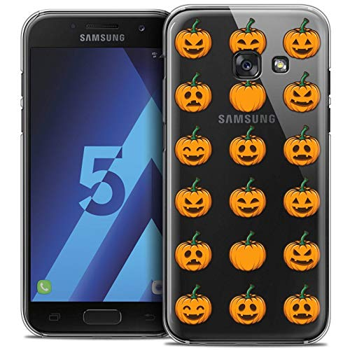 tzhülle Back Case Samsung Galaxy A5 2017 (A520) [Crystal HD Sammlung Halloween Design Smiley Citrouille - Flexibel - Ultra Fin - Auf Wunsch frisch in Frankreich gedruckt] ()