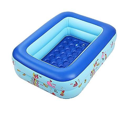 Kinder Karikatur PVC aufblasbaren Pool Kind Planschbecken Badewanne Quadrat Qualität für Kinder (Farbe zufällig) , 120cm