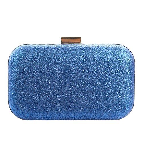 Damen Frauen Maedchen Mini Tasche Handtasche Unterarmtasche Abendtasche Clutch Blau