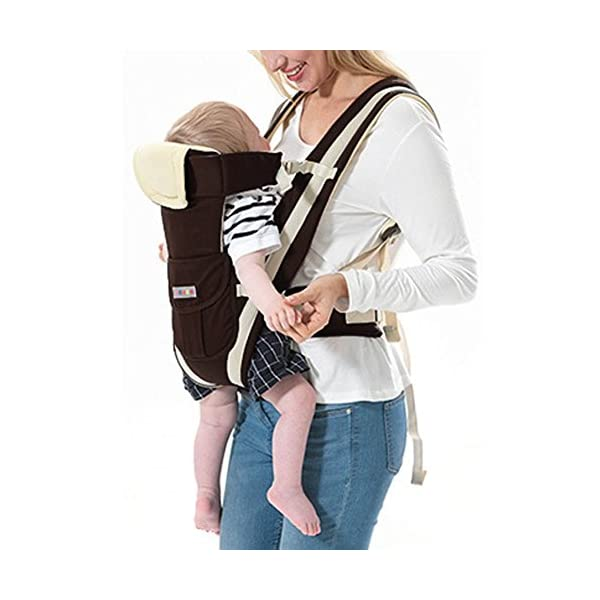 """GudeHome Baby Carrier 4 Positions Backpack, Front Facing, Kangaroo & Sling Lightweight Infant Carrier GudeHome COMFORT AND SECURITY - We know how important it is to you as the consumer to have a product that you can rely on and with peace of mind. That confidence you feel when you know your product was worth every penny! """"The proof is in the pudding"""" they say. Our double sling design provides extra security for baby and privacy while nursing. An adjustable shoulder belt and waist belt are made for safer carrying with a double-protection safety buckle eloquently designed just for your maximum comfort! EVERYTHING YOU EVER WANTED in a baby carrier can be found in flexible, lightweight, and ergonomic baby carrier. Our unique and comfortable carrier allows for FOUR safe carrying positions. The Backpack, Kangaroo, Front-Facing, & Sling positions can all be used based on your mood and comfort. This carrier provides plenty of back support. It sits on both shoulders to take stress off the back. No other baby carrier offers such a variety of positions and styles to carry your baby! QUALITY IS OUR PRIORITY - You may be thinking what separates this baby carrier from other brands that are made of cheap quality and initially seem fine, but soon after begin to fail. The baby carrier is made of top quality and premium material that is meant to last over a long-term period and designed to be the best and last brand of baby carrier you ever have to buy! 24"""