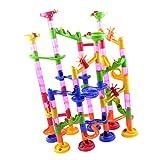 Sharplace 105-teiig Kinder Kunststoff Spielwaren Kugelbahn Murmelbahn Lernspielzeug Motorikspielzeug für Kinder unter 3 Jahren