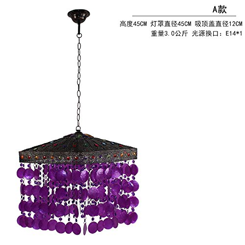 WoOnew - Lámpara de araña morada estilo europeo para salón, dormitorio, restaurante, moderno, minimalista, A
