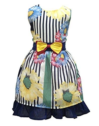 Mädchen Kleid Blau Blume Bogen Binden Kinderkleider Hochzeit Maedchen Festkleider 104 110 116 122...