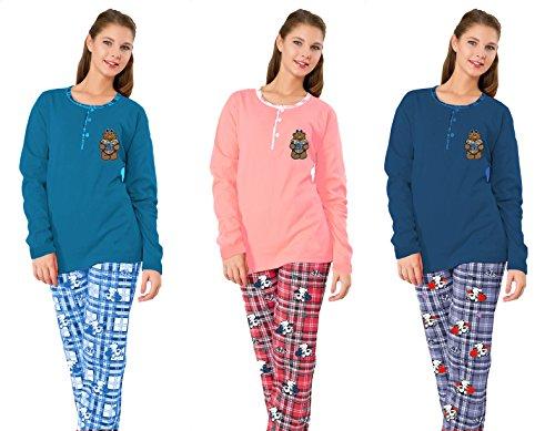 Eleanore - Ensemble de pyjama - Femme Multicolore Multicolore Medium Multicolore - Bleu royal