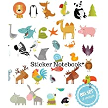 Sticker Notebook: Big Set of Stickers