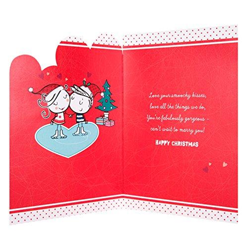 Auguri Di Natale Fidanzato.Hallmark Biglietto Di Auguri Di Natale Per Fidanzata Love You