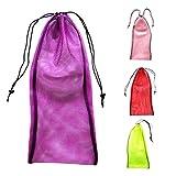Sharplace 4 Stück Packung Netztasche Mesh Bag für Tauchen Schnorcheln Schwimmen Flossen Tasche Zubehör Tasche