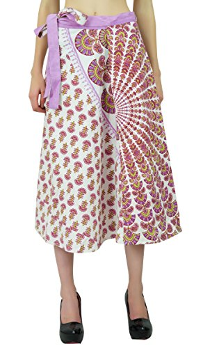 Magia Modelo Wrap Algodón Floral Falda Pareo Hippie